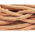 Cordão Tipo Paracord - Brown with Gold (10 mm)