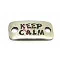 Conta Conector Zamak Largo Keep Calm - Prata