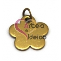Pendente Aço Inox Florinha - Dourado (17 mm)