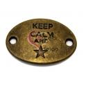 Conta Conector Metal Keep Calm Star - Bronze