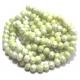 Conta Vidro Bolinha Facetada Brancas Amarelo Esverdeado (8 mm)