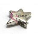 Conta Metal Estrela Lisa - Prateada (3 a 4 mm)