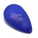 Pendente Acrílico Gota Facetada - Dark Blue (36 x 23 mm)