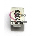 Conta Metal Boneco MaMa - Prateada (Extra-Grosso)