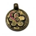Pendente Medalhinha Florinha - Dourado Velho (16 mm)