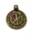 Pendente Medalhinha Paz - Dourado Velho (16 mm)