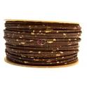 Cortiça Redonda de 4 a 5 mm - Castanho com Pepitas Douradas [cm]
