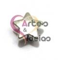 Conta Metal Estrelinha Lisa - Prateada (5 x 1.5)