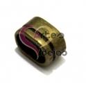 Conta Metal Argola com Risca - Bronze (Extra-Grosso)