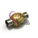 Fecho Metal [Aço Inox] Bolinha Dourada - Prateado (4 mm)