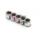 Conta Metal Passador 5 vias - Prateado (3 mm)