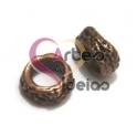 Conta Zamak Argola Irregular Rústico - Bronze (5 mm)