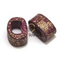Cerâmica Média Purple com Glitter Gold (18 x 10)