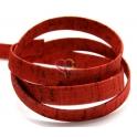 Cortiça Plana Lisa (15 x 2) - Vermelha [cm]