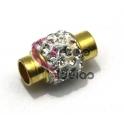 Fecho Metal Strass Crystal - Dourado (5 mm)