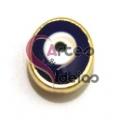 Conta Metal Olho Turco - Dourada (5 x 2)