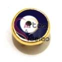 Conta Metal Olho Turco - Dourada (6 x 5)