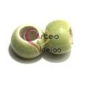 Conta de Porcelana Verde Clarinho (6 mm)