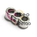 Conta Metal Passador 3 Vias - Prateado (3 mm)