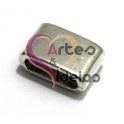 Conta Metal Barra Larga - Prateada (10 x 2 mm)