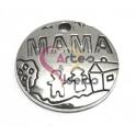 Pendente Metal Mama - Prateado (22 mm)