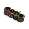 Conta Metal Passador 4 Vias - Dourado Velho (3 mm)