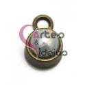 Pendente Metal Bolinha Pérola - Dourado Velho (10 mm)
