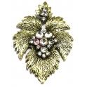 Pendente Metal Parra com Cristais - Dourado (78 x 55 mm)