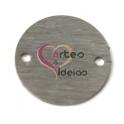 Conector Aço Inox Escovado Redondo - Prateado (25 mm)
