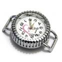 Mostrador de Relógio Redondo Peliçado (modelo 2) - Prateado