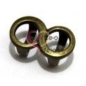 Conta Metal Infinito Simples - Dourado Velho (Extra-Grosso)