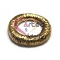 Conta Zamak Anel Efeito Enrolado - Dourado (10 mm)