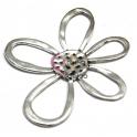Pendente Metal Flor Aberta - Prateado (58 x 53 mm)