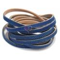 cabedal forrado camurça lexus - blue (6 x 2)