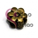 Conta Metal Malmequer - Dourado velho (5 x 2)