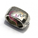 Conta Metal Argola Lisa - Prateada (Extra-Grosso)