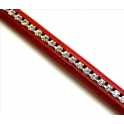 Cabedal Extra-Grosso Red com Strass Crystal