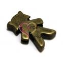 Conta menina - Bronze (10 x 2 mm)