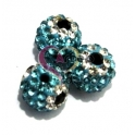 Conta Shamballa Light Blue Flower (10 mm)