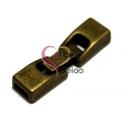 Fecho Metal Liso de Pressão - Bronze (6 x 2)