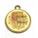 Pendente Zamak Shine Like a Star - Dourado (20 mm)