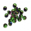 Conta de Cristal Facetada - Green Multi Blue half plated (4 mm) - [20 unds]