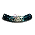 Tubo Strass Tri-color - Capri Blue - Light Blue - Crystal