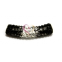 Tubo Strass Peq. Tri-color - Black - Black Moon - Crystal