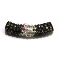 Tubo Strass Peq. Bi-color -Black Moon and Crystal