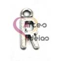 Pendente Metal Liso Letra R - Prateado (16 x 6 mm)