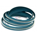 Cabedal Plano Corrente Central - Metal Turquoise (10 x 2)