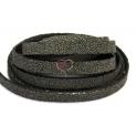 Cabedal Plano Especial Caviar - Dark Grey (10 x 3 mm)