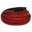 Cabedal Plano Especial Caviar - Red (10 x 3 mm)