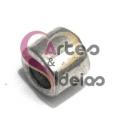 Conta Metal Tubinho Liso - Prateada (5 mm)